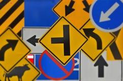 Wiele rodzaje barwiona ruchu drogowego znaka kolekcja Zdjęcie Royalty Free