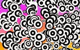Wiele Round dyskoteka kształty w Chaotycznym przygotowania ilustracja wektor