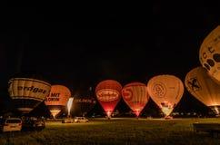 wiele rozjarzeni gorące powietrze balony Fotografia Royalty Free