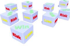 Wiele ryzyka pudełko Obraz Royalty Free