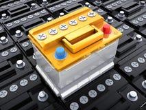 Wiele samochodowa bateria royalty ilustracja