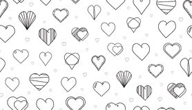 Wiele serc wektorowy bezszwowy wzór Obraz Stock