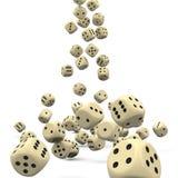 Wiele Spada 3D Dices - Kasynowy Uprawiać hazard ilustracja wektor