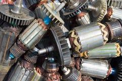Wiele stary używać rotor zdjęcie stock