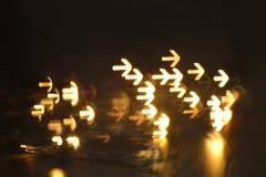 Wiele strzała wskazuje kierunek Zdjęcie Royalty Free