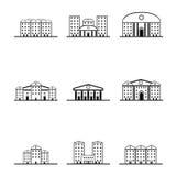 Wiele sylwetki różni domy ilustracja wektor