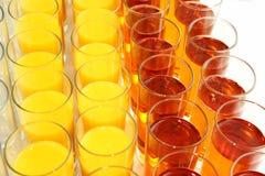 Wiele szkła z różnym sokiem Fotografia Royalty Free