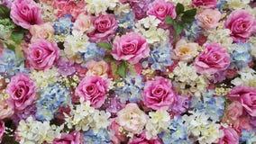 Wiele sztucznych kwiatów tło Zdjęcie Royalty Free