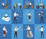 Wiele technologii wizytówek wektoru ilustracja ilustracja wektor