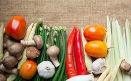 Wiele warzywa na worku Fotografia Stock