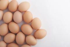 Wiele świezi brown jajka Zdjęcia Stock