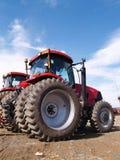 Wielen op landbouwbedrijfapparatuur Royalty-vrije Stock Foto's