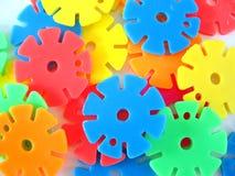 Wielen - plastic speelgoed Stock Foto