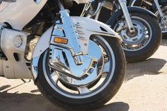 Wielen van motorfietsen Stock Foto
