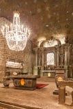 Wieliczka,波兰 St Kinga教堂 免版税图库摄影