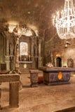 Wieliczka,波兰 St Kinga教堂 免版税库存图片