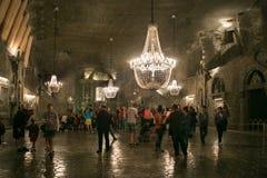 WIELICZKA, ΠΟΛΩΝΙΑ - 28 ΜΑΐΟΥ 2016: Παρεκκλησι του ST Kinga ` s στο αλατισμένο ορυχείο Wieliczka Στοκ Φωτογραφία