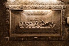 Wieliczka - Польша Скульптура музея солевого рудника Стоковые Изображения
