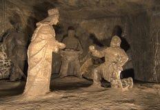 wieliczka соли шахты стоковые изображения