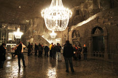 Wieliczka cathedral Stock Images