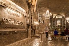 Wieliczka - la Pologne - intérieur de St Kinga Chapel Photo stock