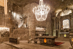 Wieliczka - la Pologne - musée souterrain de mine de sel Images libres de droits
