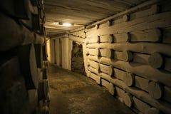 WIELICZKA POLEN - MAJ 28, 2016: Ð-¡ orridor i Wieliczka den salta minen Royaltyfria Bilder