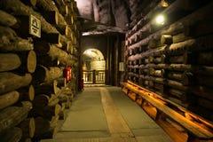 WIELICZKA, POLONIA - 28 DE MAYO DE 2016: Orridor del ¡de Ð en la mina de sal de Wieliczka Fotos de archivo libres de regalías