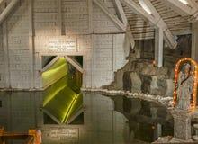 Wieliczka Salt Lake - sotterraneo Fotografie Stock Libere da Diritti