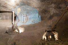 Wieliczka salt min (det 13th århundradet) Arkivbilder