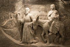 Wieliczka salt min i Krakow, Polen, Europa Arkivbild