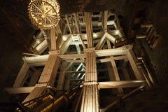 Wieliczka salt min - kopalniasoli w Wieliczce arkivbilder