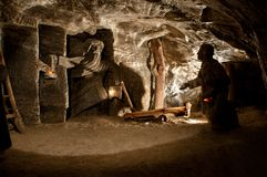 Wieliczka. Salt mine Royalty Free Stock Photo