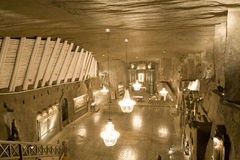 Wieliczka salt mine. Near Krakow, Poland. The mine, which was built in the 13th century, produced table salt until 2007. It is now open to tourists Stock Photos