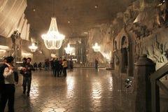 Wieliczka salt mine cathedral Stock Photos