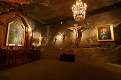 Wieliczka salt mine. Royalty Free Stock Photos