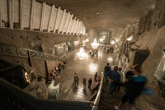 Wieliczka Salt Mine in Krakow, Poland, Europe. Stock Images