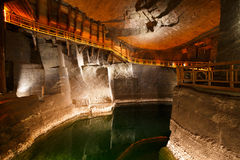 Wieliczka salt mine. Stock Photos