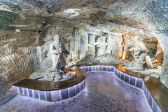 Wieliczka Salt Mine in Poland Royalty Free Stock Photos