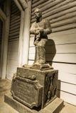 Wieliczka Salt Mine. WIELICZKA, POLAND - APRIL 28th: Statue of the Polish general Jozef Pilsudski in the Wieliczka Salt Mine (13th century), one of the world's Stock Photography