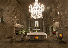 Wieliczka Salt Mine (13th century). Is one of the world's oldest salt mines. Has over 300 corridors and 300 chambers on 9 levels stock photo