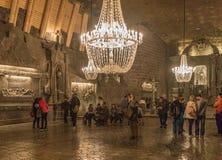 Wieliczkaen saltar minen, Polen fotografering för bildbyråer