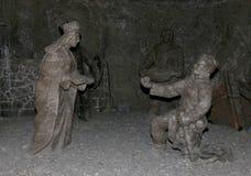 Wieliczkazoutmijn Krakau Stock Afbeelding