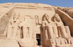 Wielka świątynia Ramesses II abu simbel Egiptu Obrazy Stock