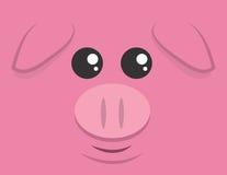 Wielka Świniowata twarz royalty ilustracja