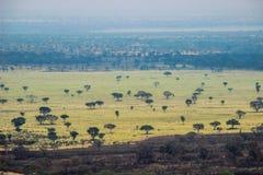 Wielka afrykańska szczelina w Uganda zdjęcia royalty free