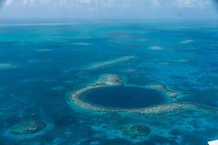 Wielka Błękitna dziura, Belize Fotografia Royalty Free