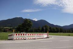 Wielka barykada na drodze obrazy stock