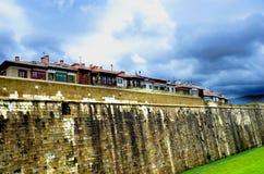 Wielka bask ściana zdjęcie stock