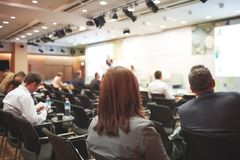 Wielka Biznesowa prezentacja lub konferencja fotografia royalty free